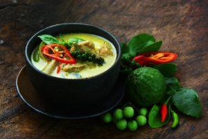 Recette de poisson Curry vert de lotte