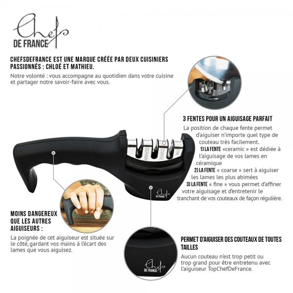 Aiguiseur de couteaux céramique / acier